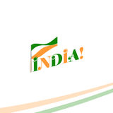 Independence day of India from the British Empire isolate sign of vector retro style logotype. Universal of Logo for Royalty Free Stock Photography