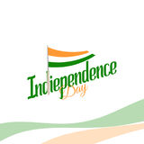 Independence day of India from the British Empire isolate sign of vector retro style logotype. Universal of Logo for Stock Image