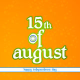 Independence Day of India. Creative abstract for 15th of August Independence Day of India with nice and creative illustration in a beautiful background royalty free illustration