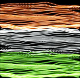 Independence day of India of lines background. Indian flag backdrop vector illustration. Colorful texture in grunge Royalty Free Stock Image