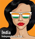 Independence Day of India. 15 th of August 3. Happy Independence day India, Vector illustration, Flyer design for 15th August stock illustration