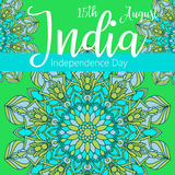 Independence Day of India. 15 th of August. Illustration stock illustration