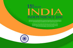 Independence Day of India. 15 th of August. Illustration of grungy Indian Flag for Indian Independence Day. vector indian flag made with color strokes in Stock Photos