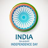 Independence Day of India. 15 th of August. Concept background with Ashoka wheel. Independence Day of India. 15 th of August vector illustration