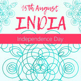 Independence Day of India. 15 th of August with mandala. Oriental pattern,  illustration. Islam, Arabic Indian turkish motif. Independence Day of India. 15 th of Royalty Free Stock Images