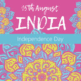 Independence Day of India. 15 th of August with mandala Stock Images