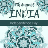 Independence Day of India. 15 th of August with mandala Stock Image