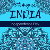 Independence Day of India. 15 th of August with mandala Stock Photo