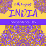 Independence Day of India. 15 th of August with mandala Royalty Free Stock Photography