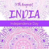 Independence Day of India. 15 th of August with mandala Stock Photos