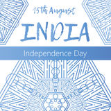 Independence Day of India. 15 th of August with mandala Royalty Free Stock Image