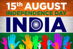 Independence day. india. 15th of august. vector Royalty Free Stock Photo