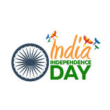 Independence day of India. Vector illustration. 15th August. Royalty Free Stock Photography