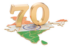 Independence Day of India, 70 years concept. 3D rendering Royalty Free Stock Photos