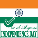 Independence day Indian flag background Stock Image