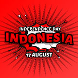 Independence day of Indonesia, celebration day in august, pop art style vector design illustration, colorful happiness Stock Photo