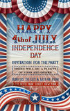 Independence Day Invitation Royalty Free Stock Photos