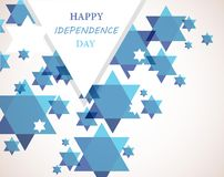 Independence day of Israel. David star background Royalty Free Stock Photo
