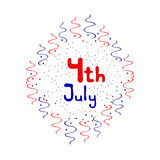 Independence Day - 4 July emblem Royalty Free Stock Photos