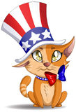 Independence Day Kitten Stock Photo