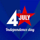 Independence day lable Royalty Free Stock Image
