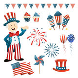 Independence Day Lements royalty free illustration