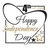 Independence Day lettering card. 4th of July Stock Images