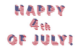 Independence Day letters from USA Flag Royalty Free Stock Photography