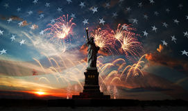 Independence day. Liberty enlightening the world Stock Images