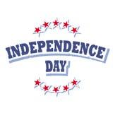 Independence day logo. Independence day america logo sign isolated on white background  illustration Royalty Free Stock Images