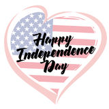 Independence Day Love USA emblem Royalty Free Stock Photos