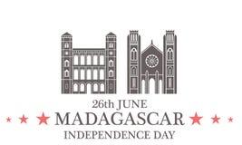 Independence Day. Madagascar. Illustration EPS Royalty Free Stock Photo