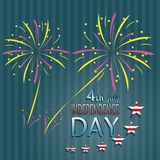 Independence Day. Made in vector Stock Image