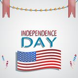 Independence Day. Made in vector Stock Photo