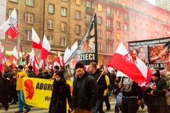 Independence Day March in Warsaw Poland Marred by Violence and Controversy. 4 Royalty Free Stock Photography