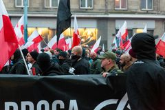 Independence Day March in Warsaw Poland Marred by Violence and Controversy. 7 Royalty Free Stock Photos