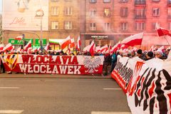 Independence Day March in Warsaw Poland Marred by Violence and Controversy. 1 Royalty Free Stock Photo