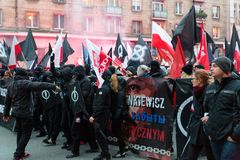 Independence Day March in Warsaw Poland Marred by Violence and Controversy. 1 Stock Image