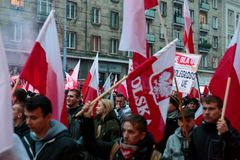 Independence Day March in Warsaw Poland Marred by Violence and Controversy. 1 Stock Photography