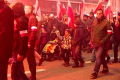 Independence Day March in Warsaw Poland Marred by Violence and Controversy. 1 Stock Photos