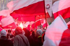 Independence Day March Warsaw Poland Marred by Violence. Independence Day March in Warsaw Poland Marred by Violence and Controversy royalty free stock photography