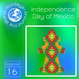 Independence Day of Mexico. istoric Bell Mexico on the texture with a national pattern. Series calendar. Holidays Around the World. Independence Day of Mexico royalty free illustration
