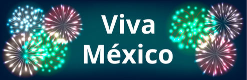 Independence Day of Mexico. Viva Mexico. Web banner for Mexican Independence Day Royalty Free Stock Images