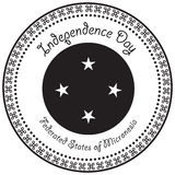 Independence Day Micronesia. Stamp print to the Independence Day of the Federated States of Micronesia Stock Images