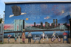 Independence Day mural in Brooklyn Stock Photos