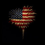 Independence day. My heart with love to usa. Royalty Free Stock Photo