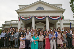 Independence Day Naturalization Ceremony. 76 new American citizens at Independence Day Naturalization Ceremony on July 4, 2005 at Thomas Jefferson's home Stock Photography