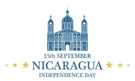 Independence Day. Nicaragua stock illustration