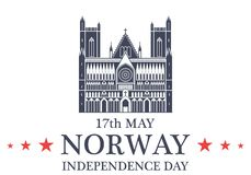 Independence Day. Norway Stock Photography