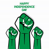 Independence Day of Pakistan design. Independence Day of Pakistan, Flag of Pakistan hand design Stock Images